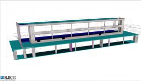 2018 12 07 3D Modell Arch. Pläne Achsen
