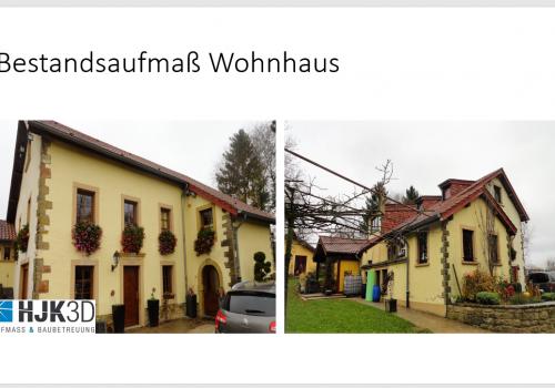 Bestandsaufmaß Wohnhaus: 2D Pläne zum 3D Modell und Übergabe an AutoCad (dwg o. ifc)